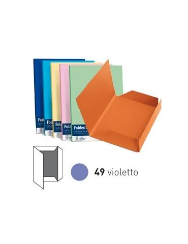 25 cartelline 3 lembi LUCE 200gr 24,5x34,5cm violetto FAVINI