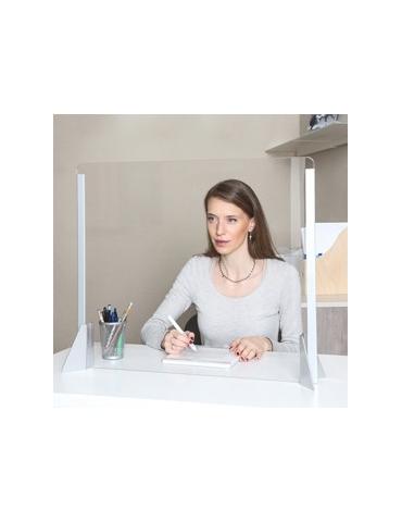 Schermo protettivo da scrivania SENZA feritoia H56xL66cm in acrilico grigio all.