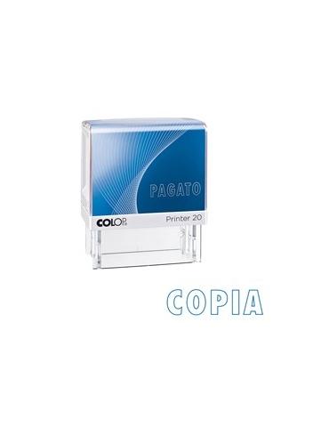 """Timbro Printer 20/L G7 autoinchiostrante 14x38mm """"COPIA"""" COLOP"""