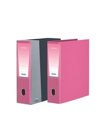 Registratore Unico c/custodia rosa dorso 8cm f.to protocollo Favorit