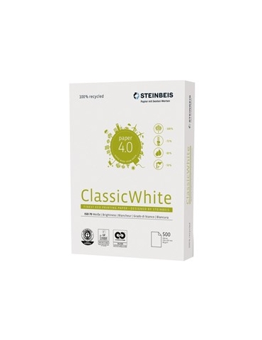 CARTA STEINBEIS CLASSIC WHITE A4 80gr 500fg 100 riciclata